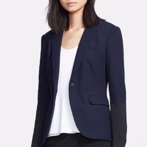 Rag & bone navy blue micro dotted blazer